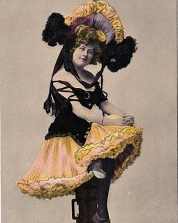 Vintage Postcard – Can Can Girl