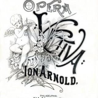 Free Vintage Clip Art – Cherub Sheet Music – Opera