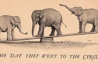 Free Vintage Clip Art – Circus Elephants