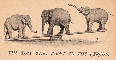 Free Vintage Clip Art Circus Elephants The Graphics Fairy