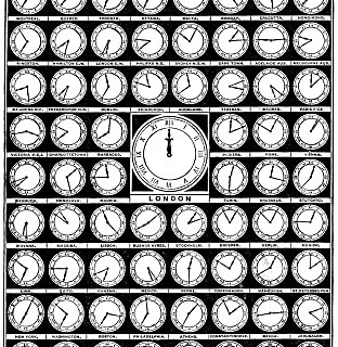 Vintage Clip Art – Clocks Around the World