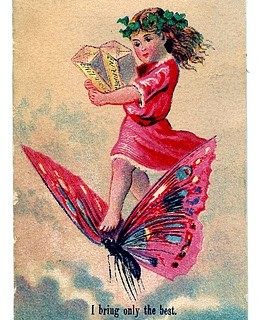 Vintage Fairy Clip Art with Butterfly
