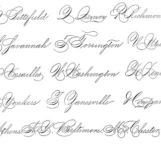 Spencerian Saturday – Pen Flourished Words