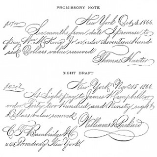 Antique Clip Art – Spencerian Writing Sample