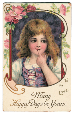 Free Vintage Graphic Cute Little Girl