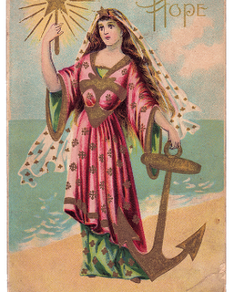 Free Vintage Clip Art – Lady Hope at The Sea