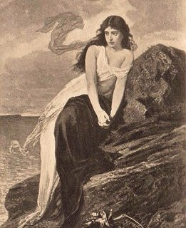 Vintage Graphic – Lady by the Sea