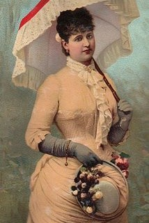 Free Clip Art – Victorian Lady with Parasol