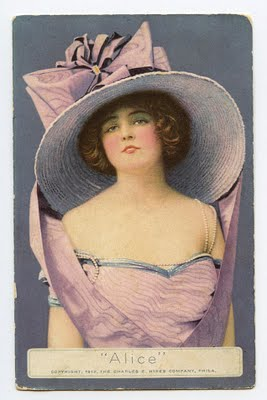 Free Vintage Clip Art Lady With Fabulous Hat The