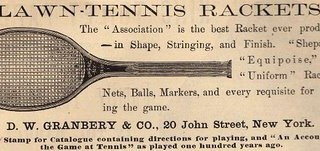 Victorian Clip Art – Tennis Racket Ad