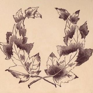 Free Vintage Clip Art – Frame of Leaves