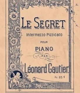 Free Antique Graphic – Le Secret Sheet Music