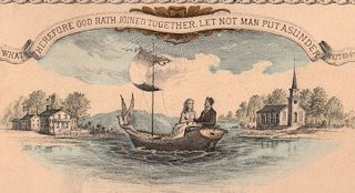 Free Victorian Graphic – Couple in Sailboat