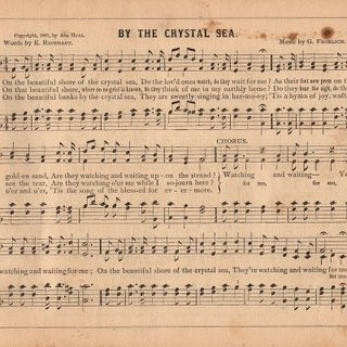 Old Sheet Music Graphic – Crystal Sea