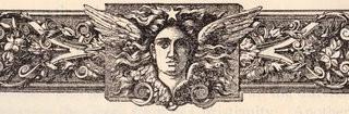 Antique Printer's Ornament – Angel