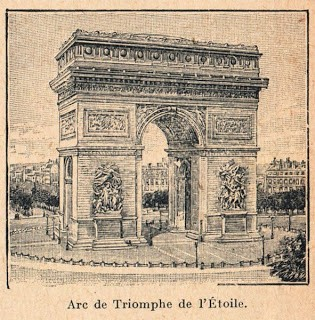 Vintage Paris Graphic – Arc de Triomphe