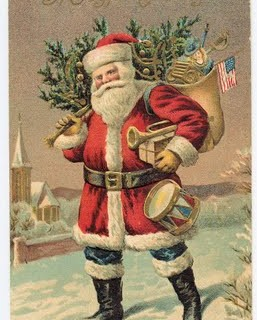 Free Victorian Clip Art – Santa Clause in Red