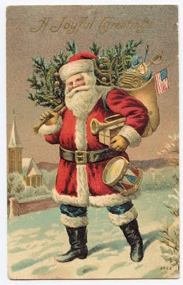 Free Victorian Clip Art Santa Clause In Red The