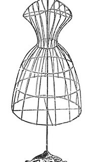 Vintage Image Download – Antique Wire Dress Form