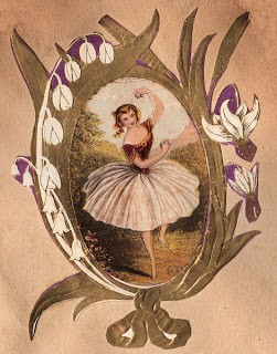 Free Clip Art: Victorian Ballerina 3