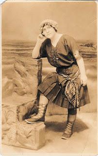 Beautiful 1920s Bathing Beauty. By 1920, swimwear was made