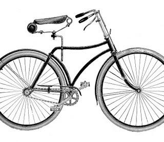 Vintage Clip Art – Bicycle