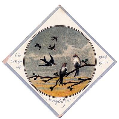 Vintage Bird Clip Art – Swallows