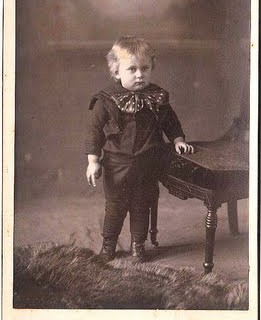 Old Photo – Odd Little Boy with Bow