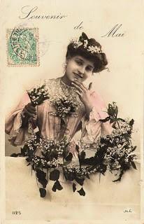 Vintage Postcard – Souvenir de Mai
