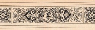 Antique Printer Ornament- Cherub & Fairy
