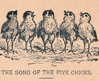 Free Vintage Clip Art – Singing Chicks