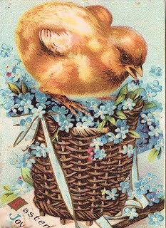 Cute Easter Chick in Basket