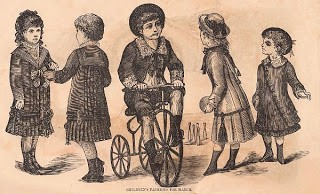 Victorian Children's Fashion Graphic
