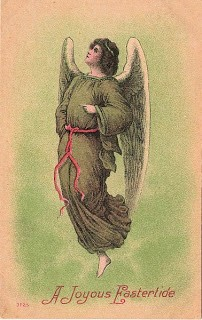 Old Easter Postcard w/ Angel