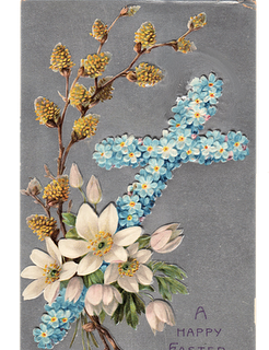 Vintage Clip Art – Easter Cross Postcard