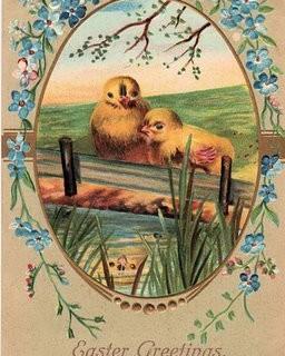 Free Vintage Easter Clip Art – 2 Peeps