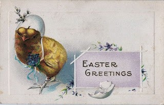 Darling Easter Chick w/ Eggshell Hat
