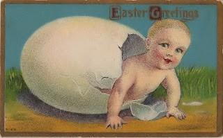 Vintage Postcard – Easter Egg Baby