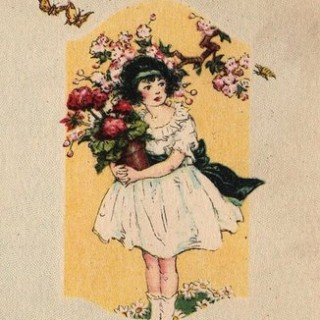 Charming Girl with Geraniums
