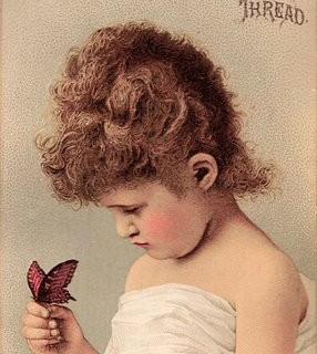 Cute Girl with Butterfly