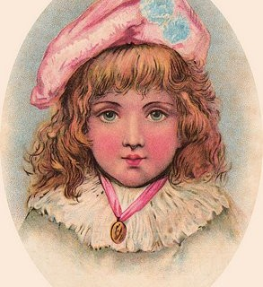 Free Victorian Clip Art – Girl with Pompom Hat