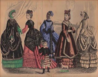 1870's Godey's Fashion Print Graphic