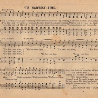 Harvest Time – Old Sheet Music
