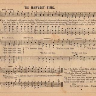 Harvest Time – Old Sheet Music