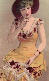 Victorian Lady with Fancy Dress