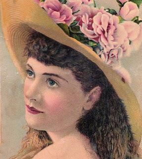 Victorian Woman with Straw Hat