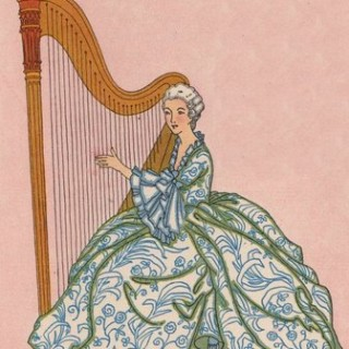 Vintage Graphic – Lady with Harp