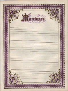 Ornate Frame – Marriage Register