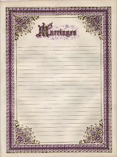 Ornate Frame – Marriage Register