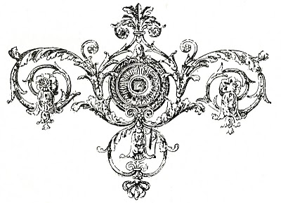 Antique Printers Ornament – Ornate Scrolls